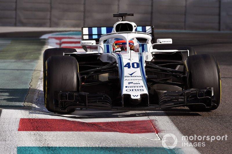 Robert Kubica, Williams FW41, testy na torze Yas Marina, 2018