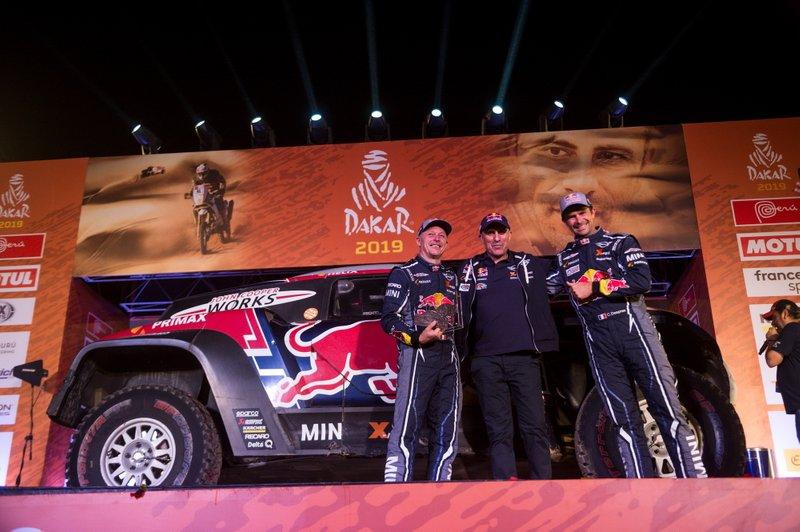 Podium: #308 X-Raid Mini JCW Team: Cyril Despres, Jean-Paul Cottret