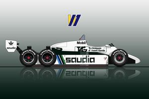 Williams FW08D altı tekerlek