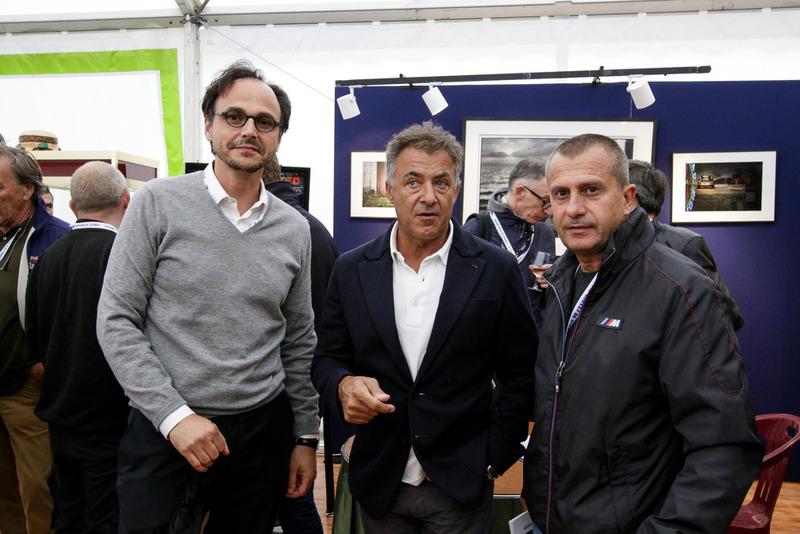 Nicolas Deschaux, Jean Alesi et Yannick Dalmas
