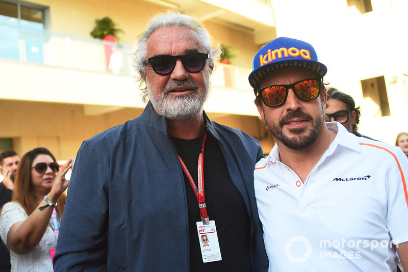 Flavio Briatore and Fernando Alonso, McLaren