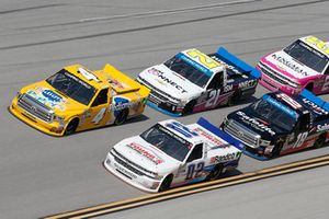 Todd Gilliland, Kyle Busch Motorsports, Toyota Tundra Pedigree Puppy Austin Hill, Young's Motorsports, Chevrolet Silverado Young's Building Systems/Randco