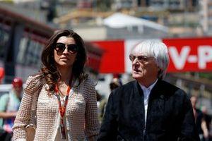 Bernie Ecclestone, CEO and President, FOM, with his wife, Fabiana