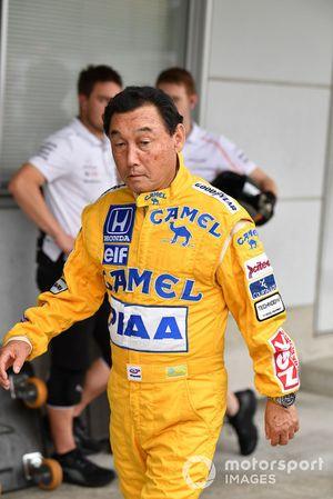 Satoru Nakajima at Legends F1 30th Anniversary Lap Demonstration