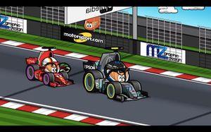 El incidente entre Vettel y Bottas en Hungría, según MiniDrivers