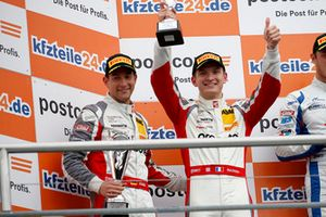 Podium: second place #99 Precote Herberth Motorsport Porsche 911 GT3 R: Robert Renauer, Mathieu Jaminet
