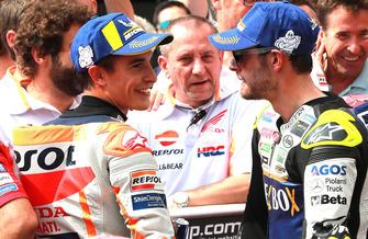 3. Marc Marquez, Repsol Honda Team, 4. Cal Crutchlow, Team LCR Honda