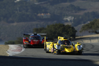 #85 JDC/Miller Motorsports ORECA 07, P: Simon Trummer, Robert Alon, #77 Mazda Team Joest Mazda DPi, P: Oliver Jarvis, Tristan Nunez