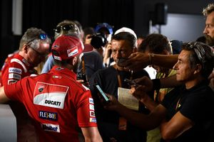 Andrea Dovizioso, Ducati Team, parle aux médias