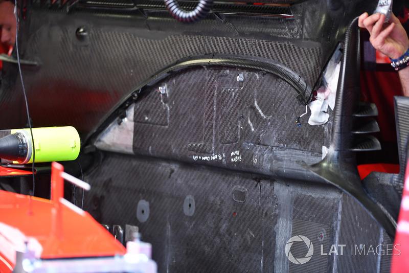 Ferrari SF71H, padlólemez, részlet