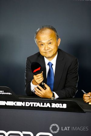 Susumu Yamashita, President at MobilityLand Corp, announces Hondas sponsorship of the Japanese Grand Prix