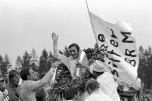 Race winner Jo Siffert, BRM P160