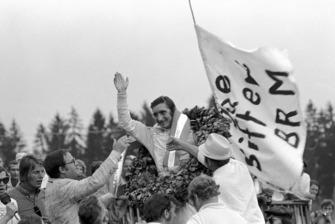 Race winner Jo Siffert, BRM P160
