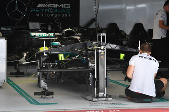 Mercedes-AMG F1 W09 in the garage