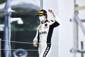 Lorenzo Colombo, Campos Racing celebrates on the podium