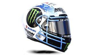 Helm: Alex Rins, Team Suzuki MotoGP, für den GP Amerikan 2021 in Austin