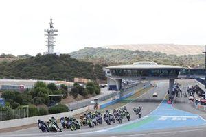 Start der Supersport-300-Klasse in Jerez