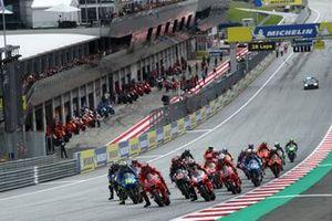 Francesco Bagnaia, Ducati Team leads at the start