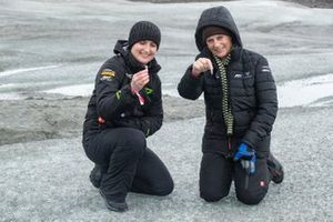 Emma Gilmour, Veloce Racing, and Jutta Kleinschmidt, ABT CUPRA XE, on the Russell Glacier