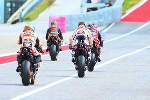 Pol Espargaro, Repsol Honda Team, Marc Marquez, Repsol Honda Team, Jack Miller, Ducati Team, Brad Binder, Red Bull KTM Factory Racing