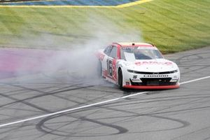 A.J. Allmendinger, Kaulig Racing, Chevrolet Camaro RAMCO Specialties Inc. celebrates winning the New Holland 250.