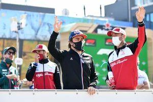 Fernando Alonso, Alpine A521 Robert Kubica, Test and Reserve Driver, Alfa Romeo Racing Driver's parade