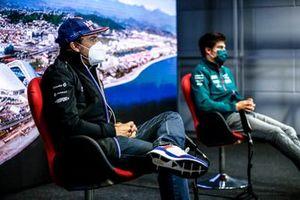 Fernando Alonso, Alpine F1 et Lance Stroll, Aston Martin en conférence de presse