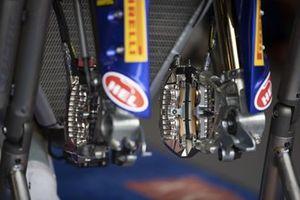 Detalle de los frenos Brembo en la moto de Toprak Razgatlioglu, PATA Yamaha WorldSBK Team