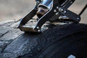 Tire being prepared