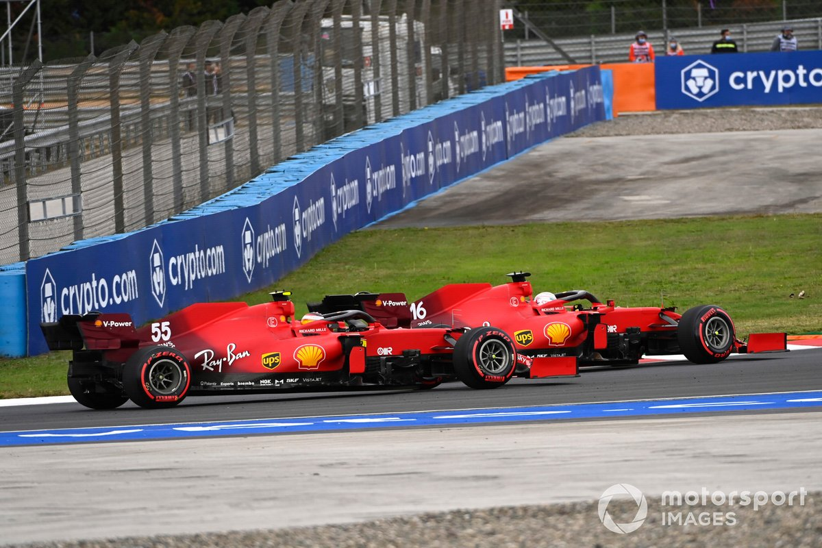 Charles Leclerc, Ferrari SF21, Carlos Sainz Jr., Ferrari SF21