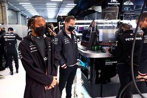 Lewis Hamilton, Mercedes, with Stoffel Vandoorne, Test and Reserve Driver, Mercedes