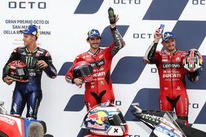 Francesco Bagnaia, Ducati Team, Jack Miller, Ducati Team, Fabio Quartararo, Yamaha Factory Racing