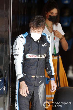 Fernando Alonso, Alpine F1, and partner Linda Morselli