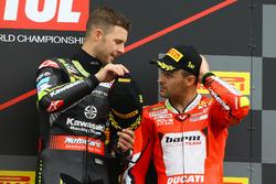 Podium: Jonathan Rea, Kawasaki Racing, Xavi Fores, Barni Racing Team