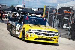 Dalton Sargeant, GMS Racing, Chevrolet Silverado Performance Plus Motor Oil, windshield banner