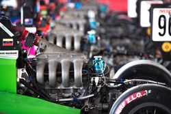 Engine detail of Manuel Maldonado car
