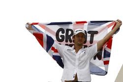 Jenson Button, Brawn GP, celebrates becoming world champion