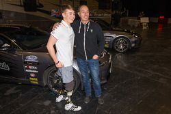 Billy Monger and Terry Grant preparing to go into the Live Action Arena