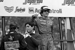 Podium: race winner Alain Prost, McLaren