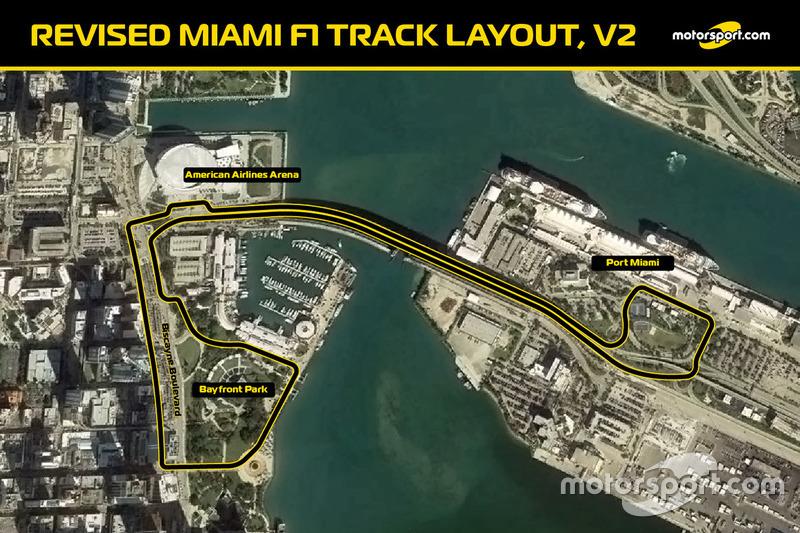 Layout trek balapan F1 di Miami