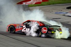 Christopher Bell, Joe Gibbs Racing, Toyota Camry Rheem celebrates his win with a burnout