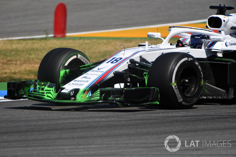 Lance Stroll, Williams FW41 con parafina