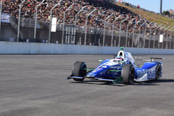 Takuma Sato takes a trip with his IndyCar ride