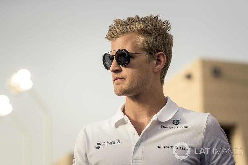 Marcus Ericsson, Sauber lors de la parade des pilotes