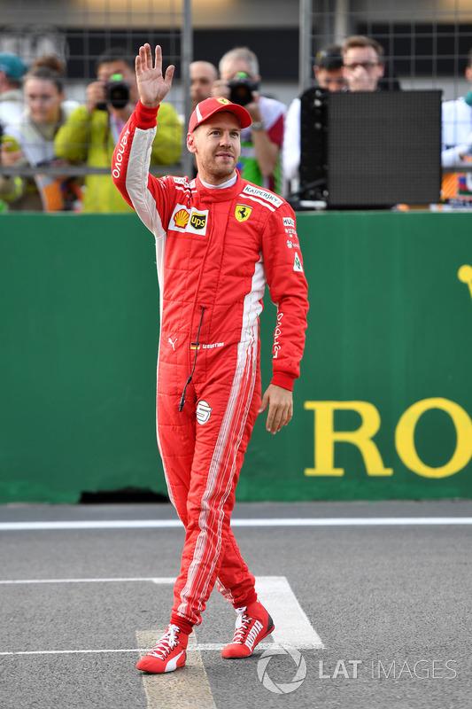 Pole pozisyonu galibi Sebastian Vettel, Ferrari