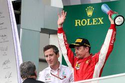 Podium: tweede Kimi Raikkonen, Ferrari
