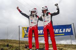 Les vainqueurs Ott Tänak, Martin Järveoja, Toyota Yaris WRC, Toyota Gazoo Racing