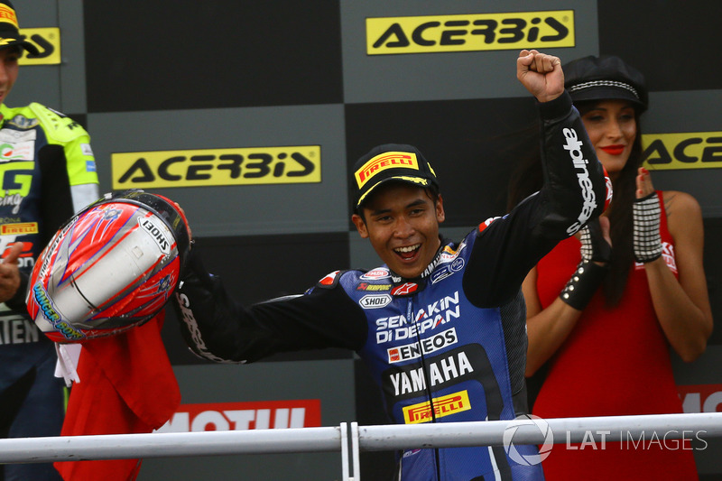 Podium: race winner Galang Hendra, Yamaha MotoX Racing