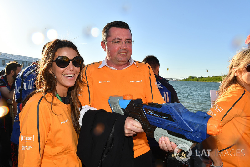 Eric Boullier, Race Director of McLaren at the raft race