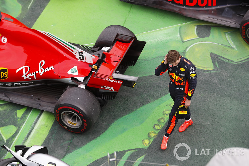 Max Verstappen, Red Bull Racing, in parc ferme after finishing third